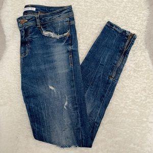 ZARA Skinny Distressed Jeans - Size 4